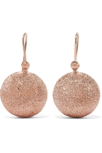 rose gold rose earrings gold earrings gold jewels