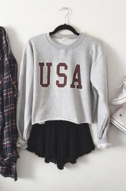 sweater usa fall outfits fall outfits outfit fashion