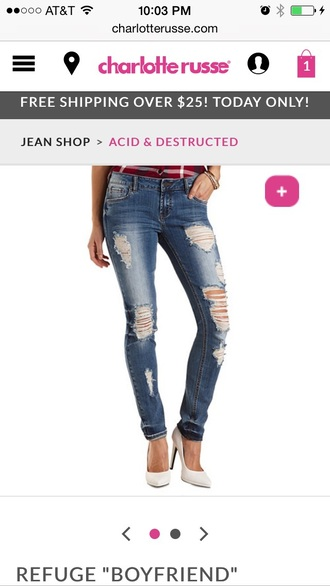 jeans destructed skinny pants