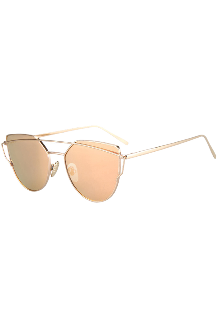 golden frame aviator sunglasses  Bar Golden Frame Aviator Sunglasses