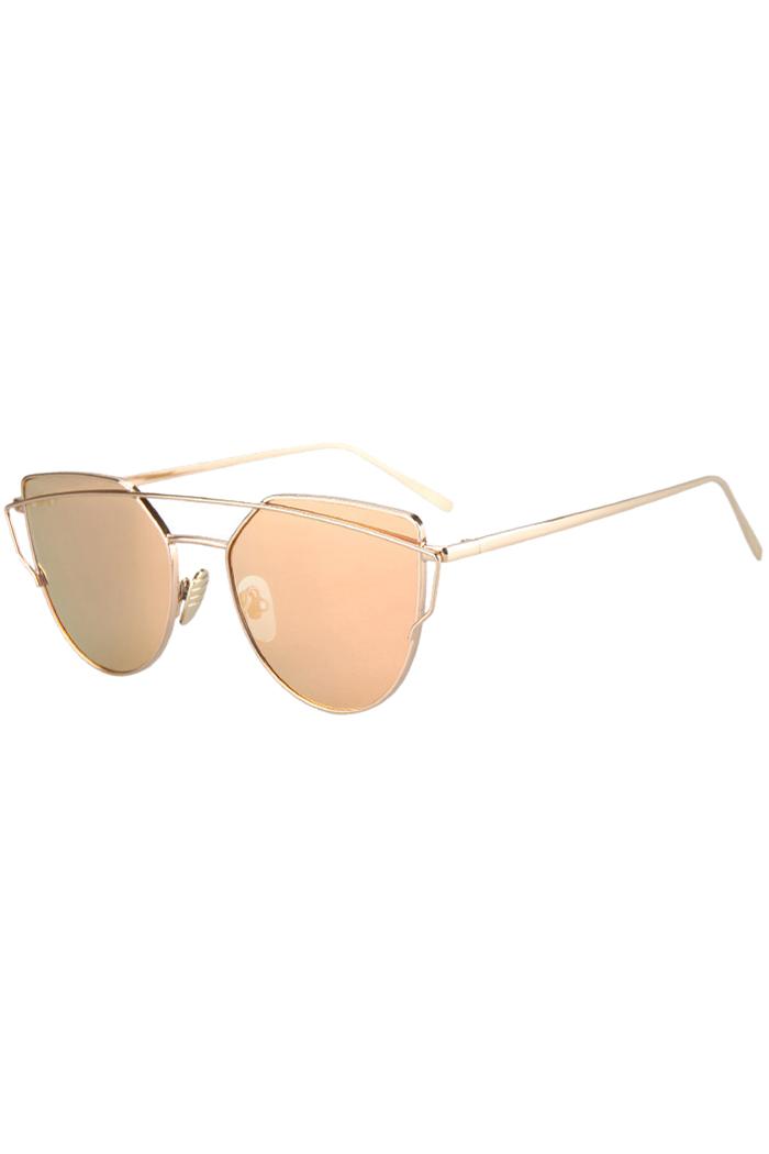 golden frame aviator sunglasses  Bar Golden Frame Aviator Sunglasses