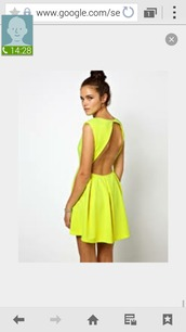 dress,yellow dress,vback backout