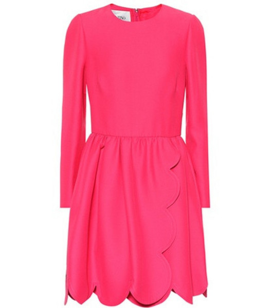Valentino Silk and wool cady minidress in pink