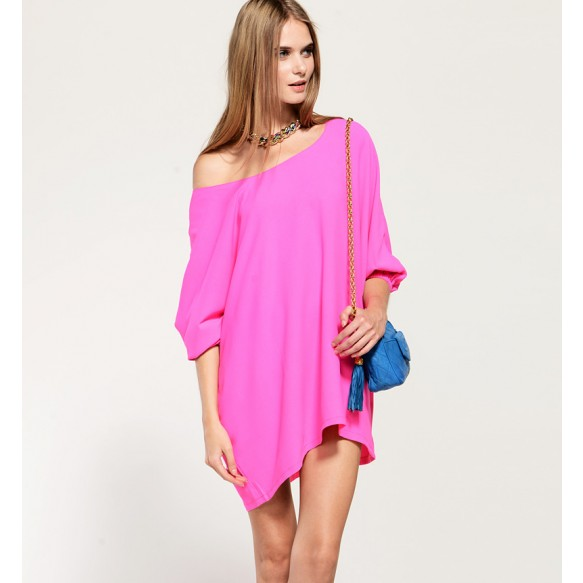 Oversized T-Shirt Dress at Style Moi