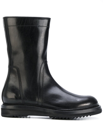 high women boots ankle boots leather black shoes