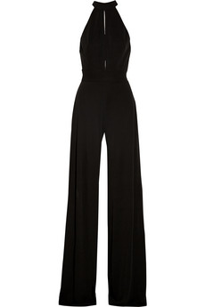 Silk-jersey halterneck jumpsuit  | Issa | 56% off | THE OUTNET