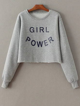 sweater fashion style trendy grey casual fall outfits long sleeves quote on it winter outfits zaful