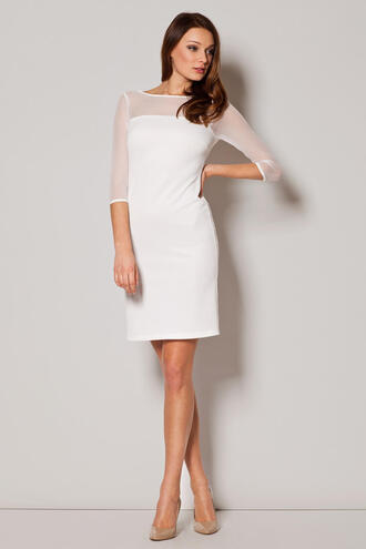 dress ecru off-white dress