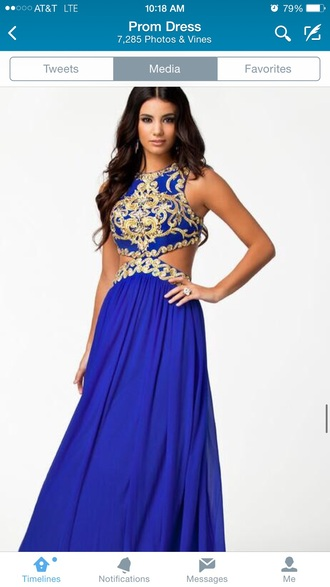 dress gold glitter two piece dress set royal blue dress