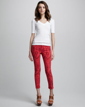 Joe's Jeans The High Water Iris Ikat-Print Jeans - Neiman Marcus