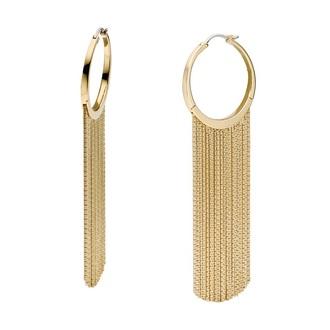 jewels earrings tassel chain hoop earrings gold