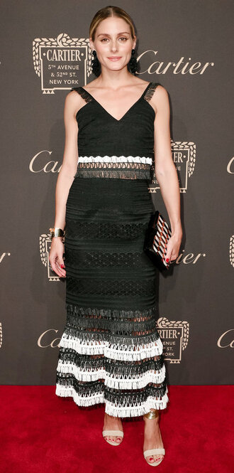 skirt olivia palermo blogger sandals crop tops ny fashion week 2016 clutch blouse