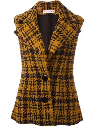 jacket sleeveless yellow orange