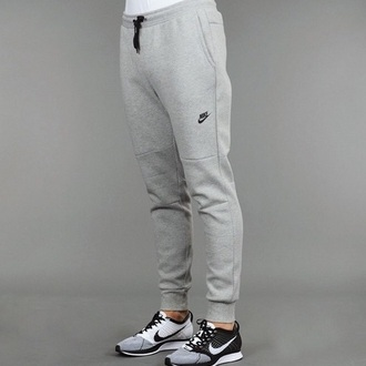 pants grey sweatpants nike running shoes shoes