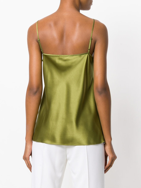 Joseph top women silk green