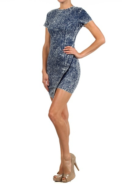Asymmetrical Jean Dress