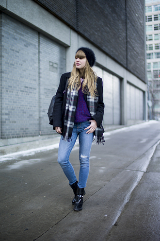 just another me jeans sweater t-shirt coat shoes scarf hat jewels