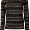 Bella freud 'stripe love lace' jumper, women's, size: small, black, polyamide/wool/metallic fibre