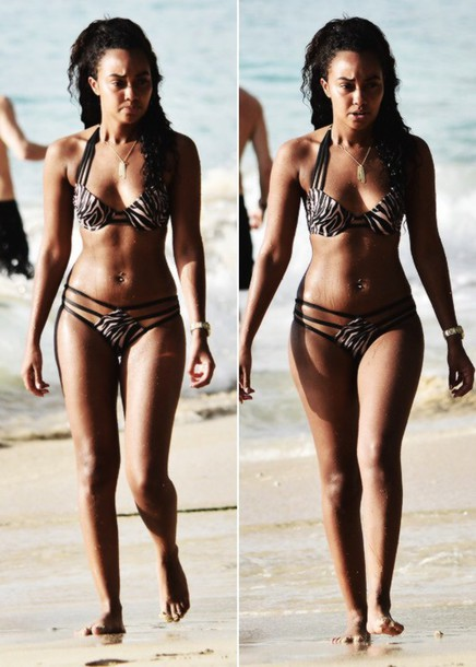 swimwear bikini beach wow leigh-anne pinnock zebra print