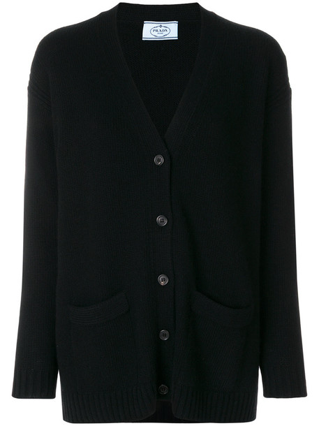 Prada cardigan cardigan women black wool sweater