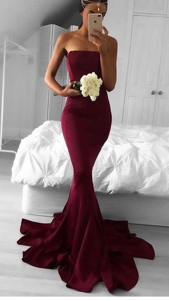dress red dress red floor length dress burgundy dress mermaid dresses