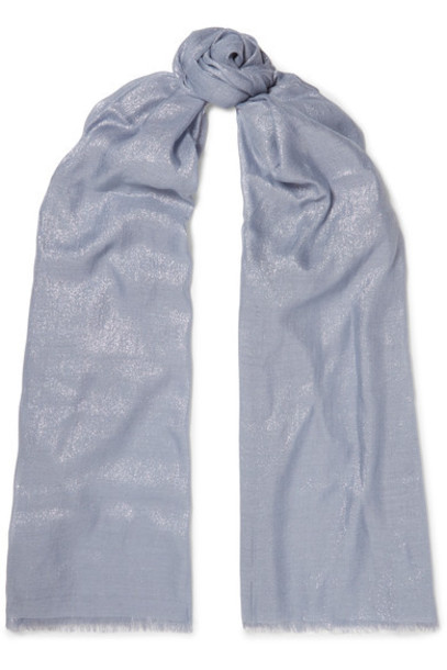 BRUNELLO CUCINELLI metallic scarf blue
