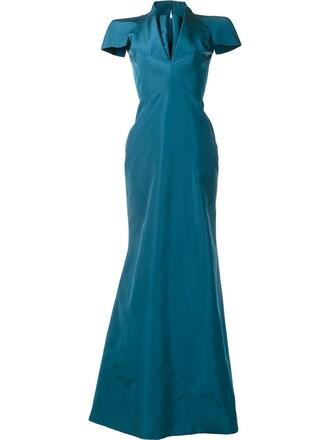 gown women silk green dress