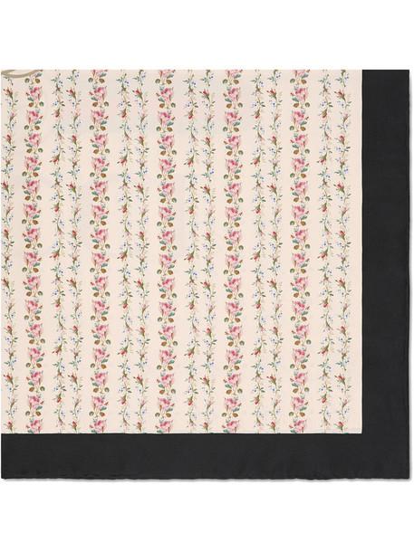 gucci rose women scarf silk scarf nude print silk