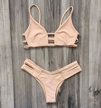 swimwear bikini summer pink cute beach bikiniluxe nude swimwear