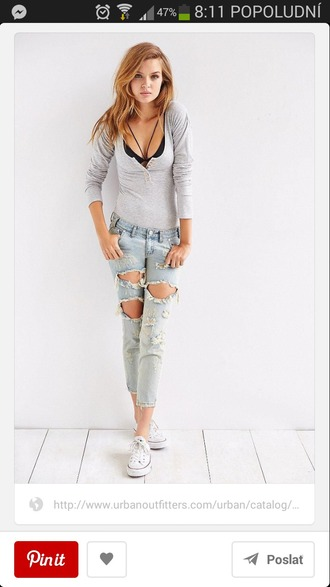 shirt henley jeans women girl button