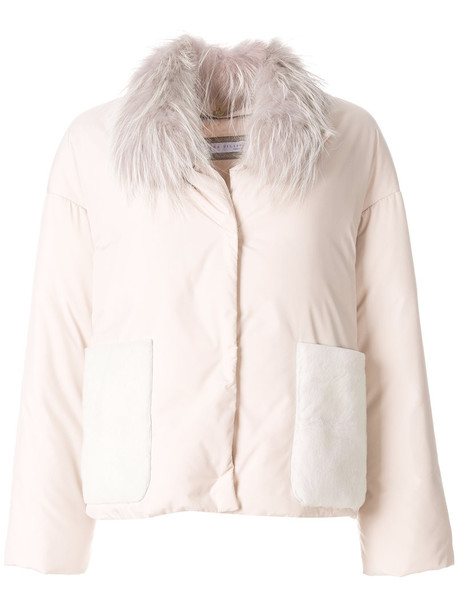 Fabiana Filippi jacket fur fox women purple pink