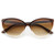 Cute Retro Summer Cat Eye Color Fade Sunglasses 8540                           | zeroUV