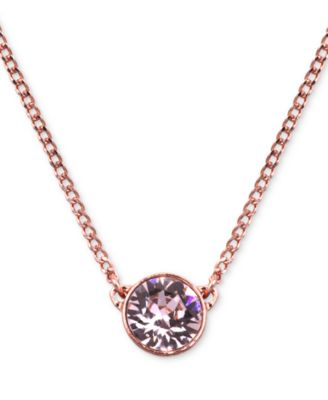 Givenchy Necklace, Gold-Tone Swarovski Element Pendant Necklace - Fashion Jewelry - Jewelry & Watches - Macy's