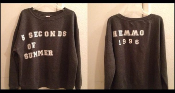 sweater 5 seconds of summer luke hemmings jumper