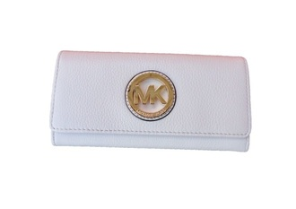 bag michael kors white leather wallet