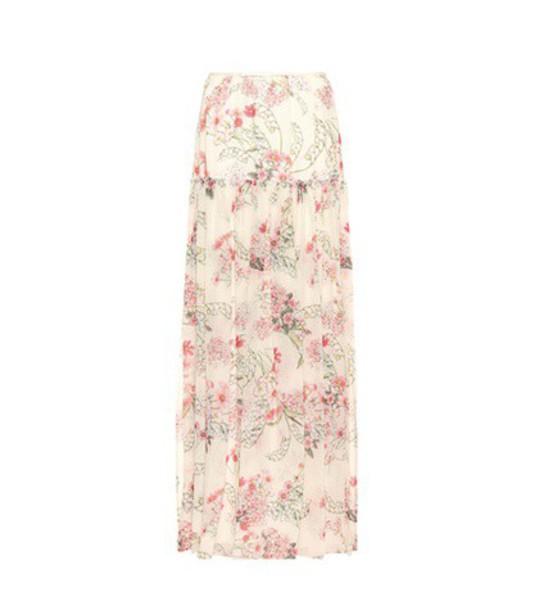 GIAMBATTISTA VALLI skirt floral silk beige
