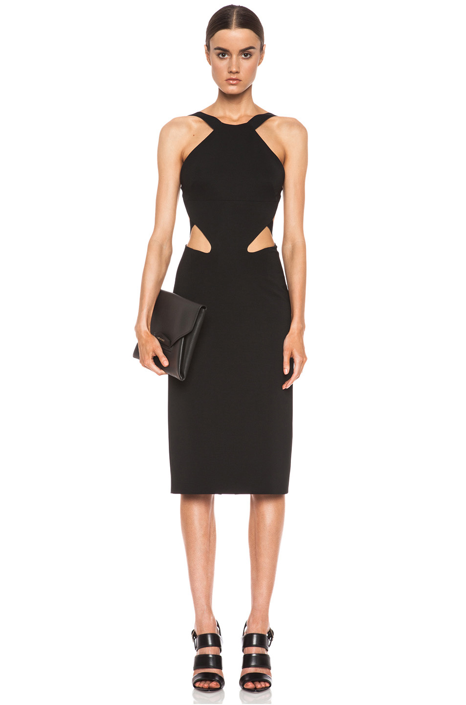 Cushnie et Ochs|Viscose-Blend Halter Dress in Black