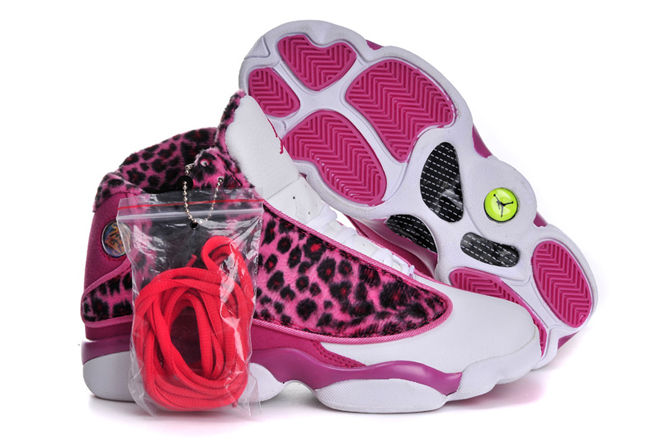 Michael Jordan 13 XIII Retro GS Leopard & Print Pink/White Ladies Shoes