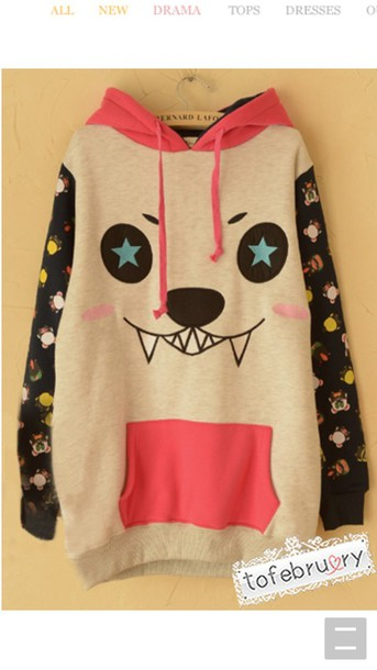 sweater cute hoodie monster colorful prints