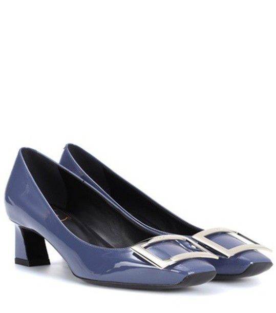 Roger Vivier pumps leather blue shoes