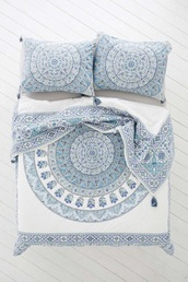 home accessory,bedding,boho chic,style,mandala,lelaan,lelaan sheet sets,bed comforter,blue,white,home decor,where do i get this,mandela,baby blue,free vibrationz,boho bedding