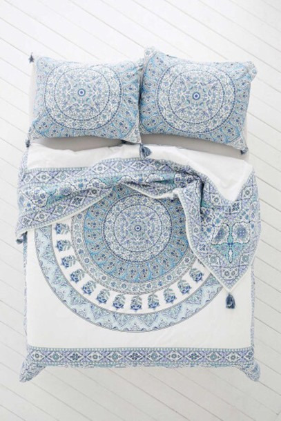 home accessory home decor bedding bedding boho chic style mandala lelaan lelaan sheet sets bed sheet or bed spread boho decor bed comforter pajamas bohostyle 3d comforters duvets boho bohemian hippie bedding duvet blankets indie hipster white blue home decor house home decor bedroom teen room bedsheets blue bedding white bedding printed bedding pillow designed designed pillows home decor where do i get this bedding mandela baby blue free vibrationz boho bedding