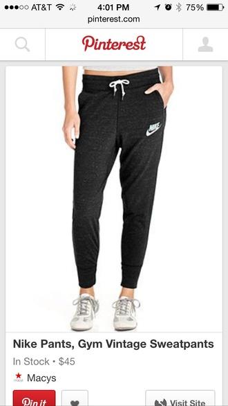 pants nike black baggy sweatpants