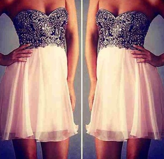 dress couture print sparkly bandeau short dress