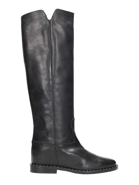 VIA ROMA 15 leather boots leather black shoes