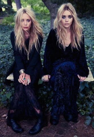 olsen sisters blogger jacket boho make-up blonde hair hair/makeup inspo