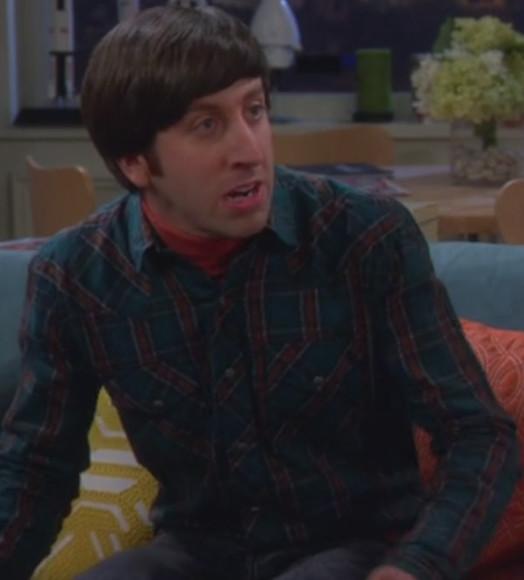 flannel shirt howard wolowitz men shirt big bang theory simon helberg western shirt