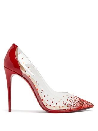 embellished pumps red shoes