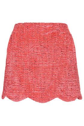 Fringe Scallop Skirt - Topshop