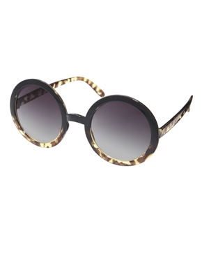 ASOS | ASOS Tort Mixed Frame Round Sunglasses at ASOS